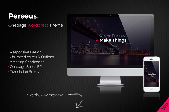 Perseus Onepage Scrolling WP Theme