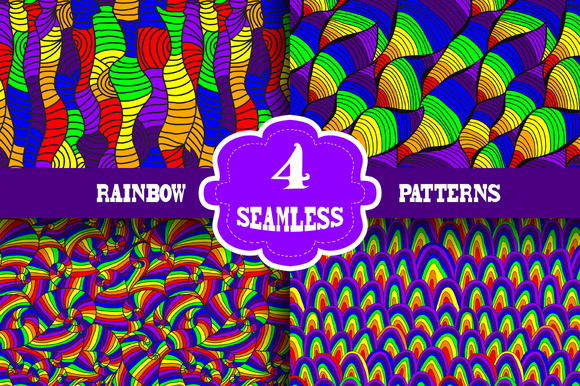 4 Rainbow Patterns