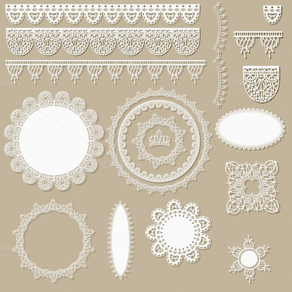 Vector Lacy Scrapbook Design Element