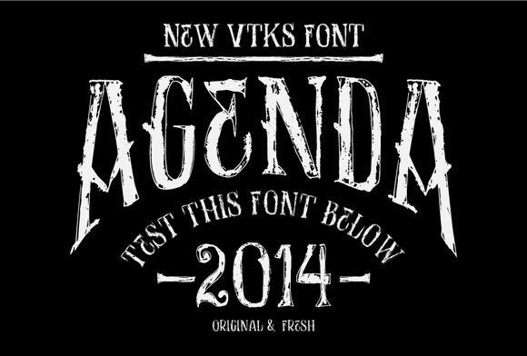 AGENDA New VTKS Font