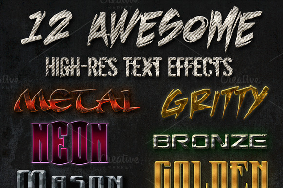 12 Awesome Text Effects