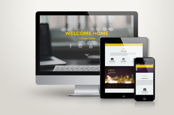 Home Responsive One Page Template