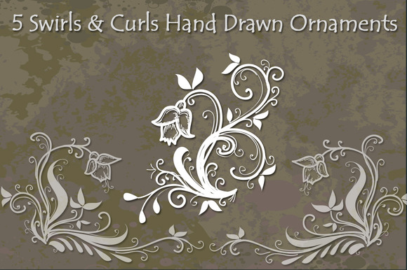Swirls And Curls Hand Drawn Vectors