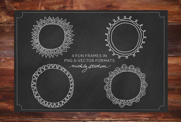 VECTOR PNG Digital Clip Art Frames