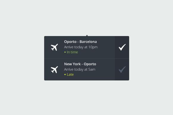 Flight Notification Graphic