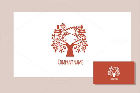 Spring Tree Logo Red