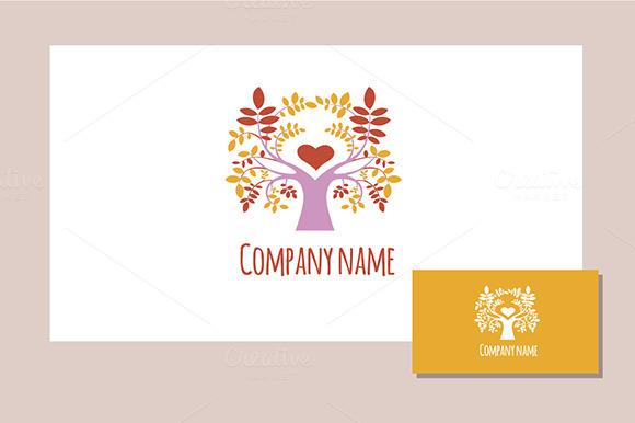 Spring Tree Logo Multicolor