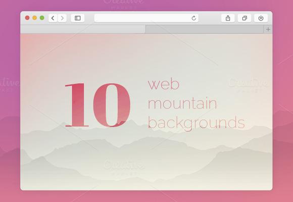 10 Web Mountain Backgrounds