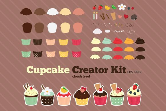 Cupcake Creator Kit Clipart