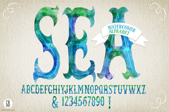Watercolor Alphabet SEA