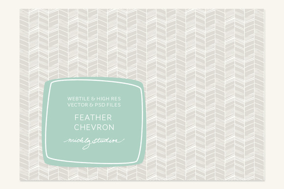 VECTOR PSD Feather Chevron Tile