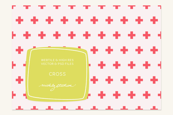 VECTOR PSD Cross Webtile Pattern