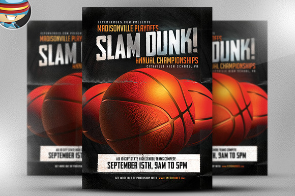 Slam Dunk Flyer Template
