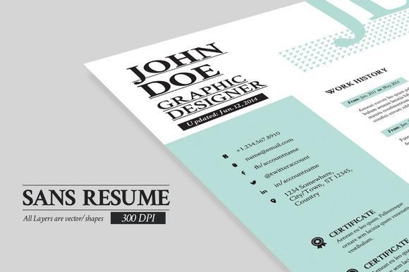 Sans Resume Cover Letter Portfolio
