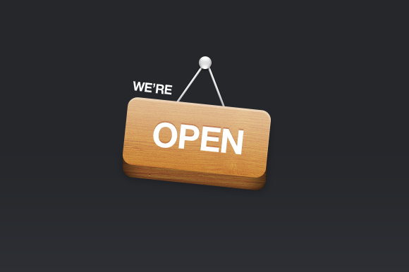 We Re Open Sign
