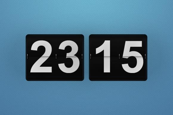 Flip Countdown Wall Clock