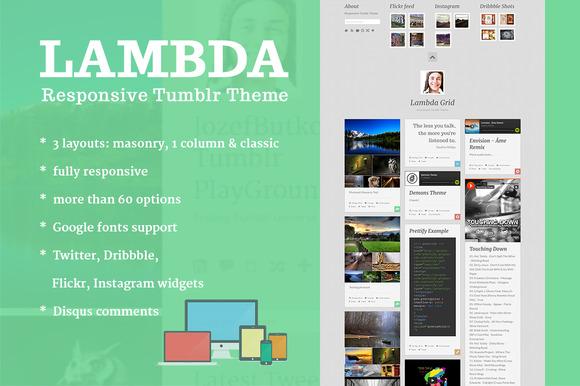 Lambda Multi Layout Tumblr Theme