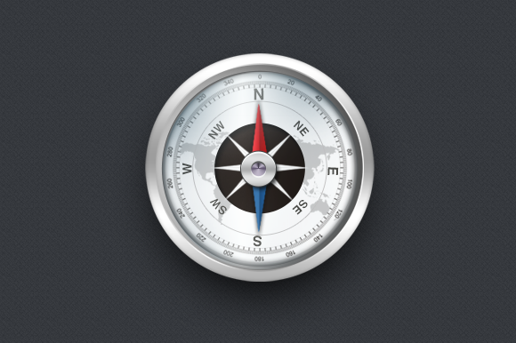 Detailed Compass Icon