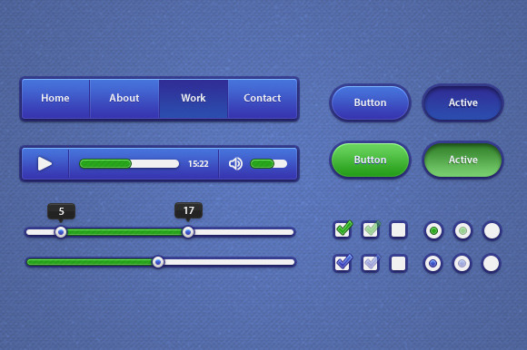 Blue Green UI Kit