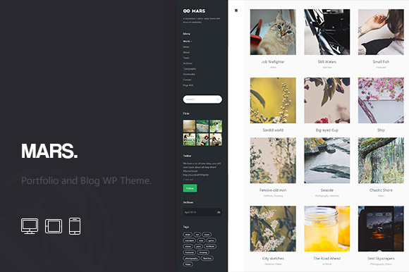 Mars Portfolio And Blog WP Theme