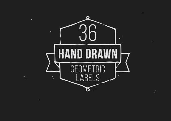 Hand Drawn Geometric Labels