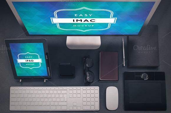 Ipad And Imac Mockup Desktop