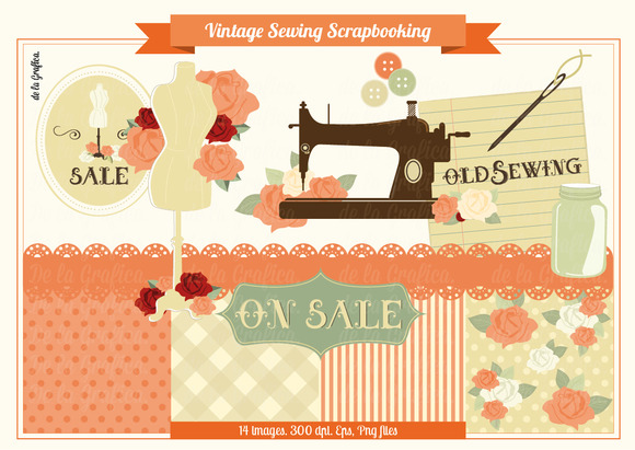Vintage Sewing Scrapbooking