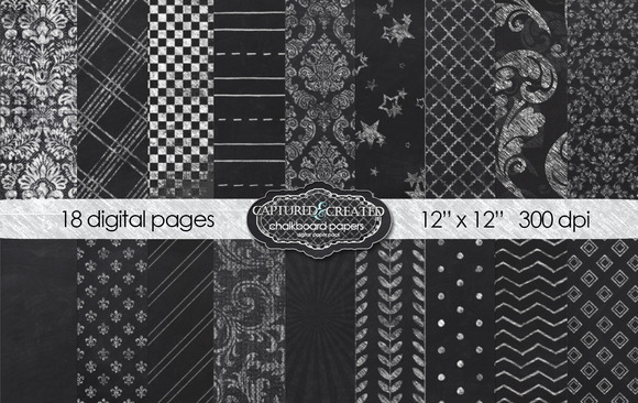 Chalkboard Papers 18 Mega Digital