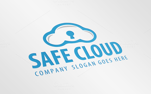 Safe Cloud Logo Template