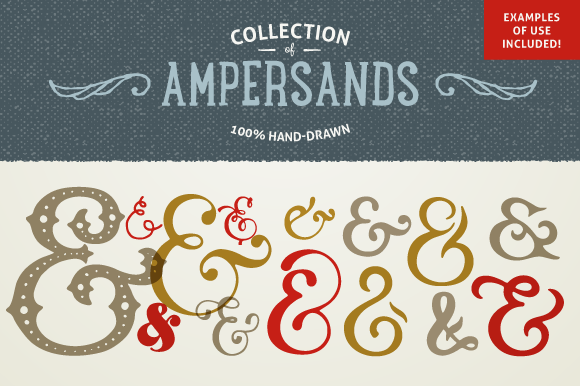 Hand Drawn Ampersands