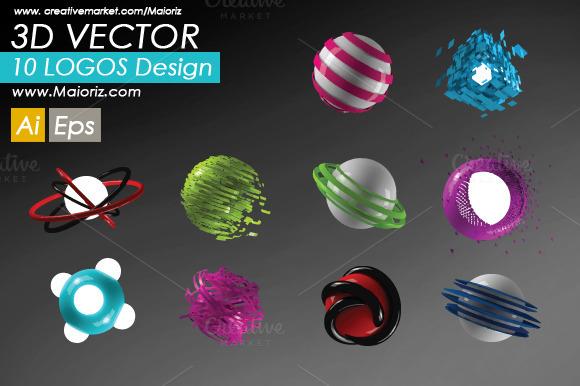 3D Logos Pack V.1