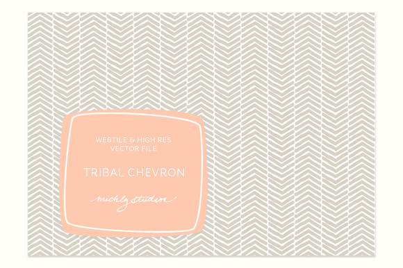 VECTOR PSD Tribal Chevron Tile P