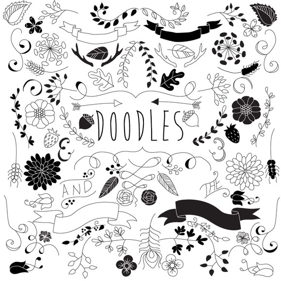 Doodled Daydreams 80 Vectors