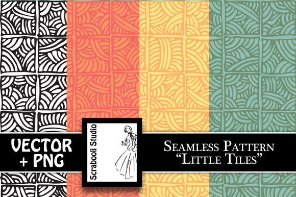 Seamless Pattern Little Tiles