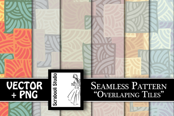Seamless Pattern Overlapping Tiles