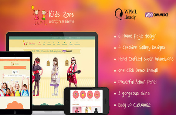 Kids Zone Responsive Children Theme