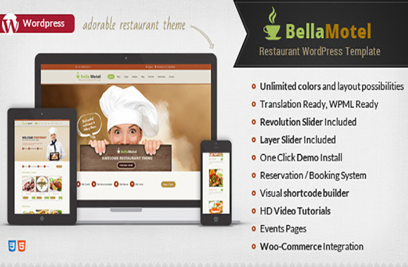 Bella Motel Restaurant WP Theme
