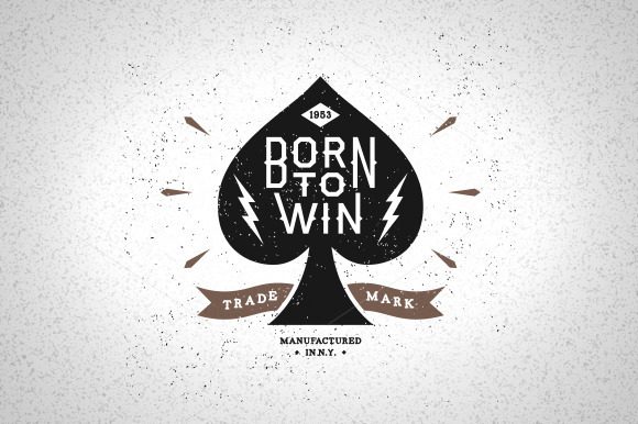 Vintage Label Born To Win