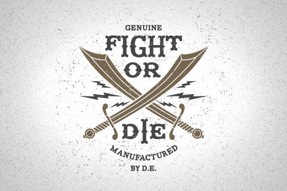 Vintage Label Fight Or Die