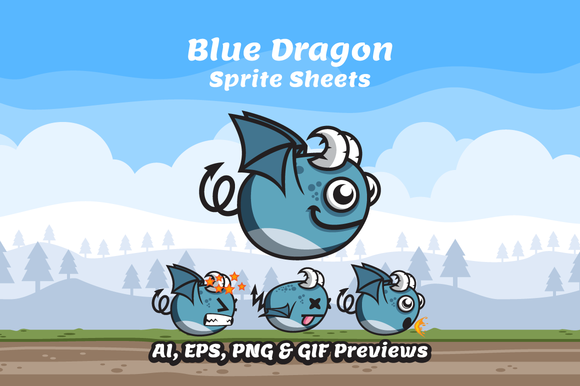 Game Character Dragon Sprite Sheets