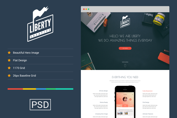 Liberty One Page Template