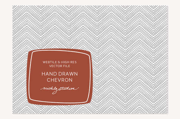 VECTOR PSD Hand Drawn Chevron