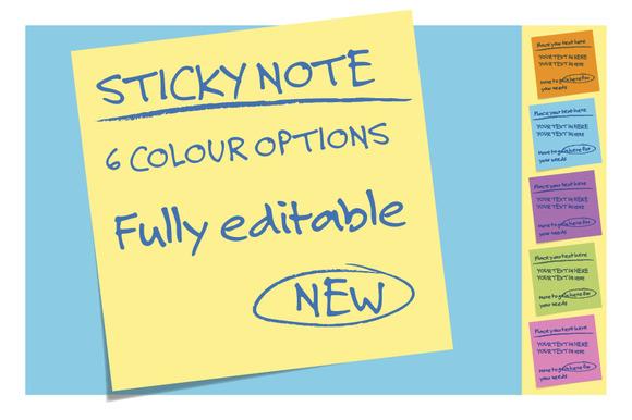 Sticky Notes 6 Colours