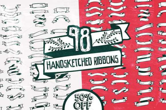98 Handsketched Ribbons