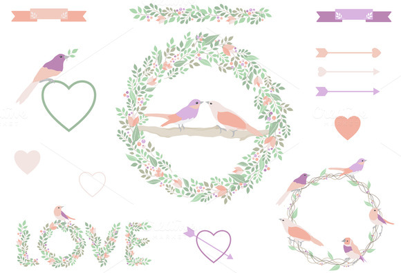 Wedding Bird Frame Collection