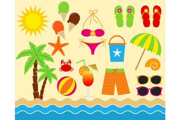 Digital Beach Clip Art