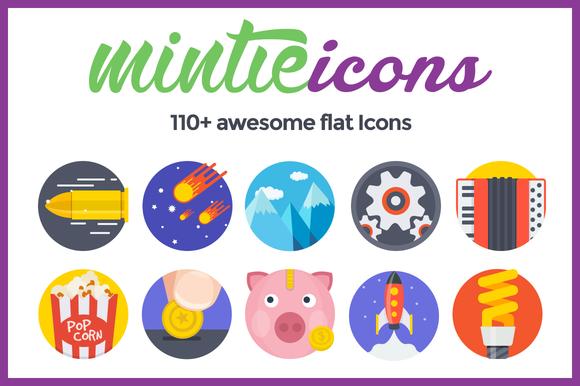 Mintie Icons 110 Flat Fresh Icons