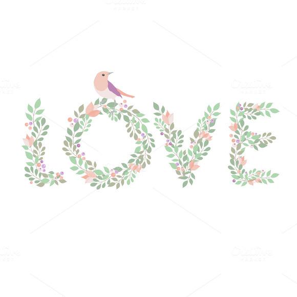 Clip Art Floral Love
