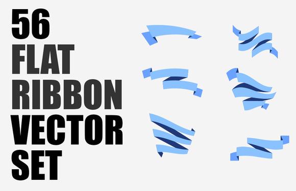 56 Ribbons Vector Set