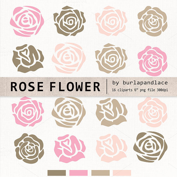 Rose Flower Clipart